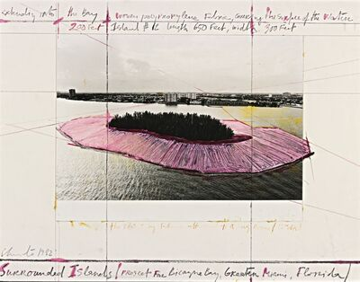 Christo, 'Surrounded Islands, Project for Biscayne Bay, Greater Miami, Florida', 1982