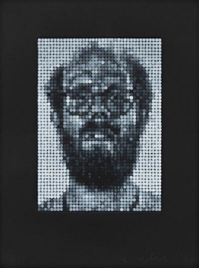 Chuck Close, 'Self Portrait / Spitbite / White on Black', 1997