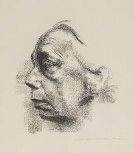 Käthe Kollwitz, 'Self-Portrait in Profile', 1927