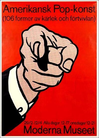 "Roy Lichtenstein, '""Amerikansk Pop-konst"" (American Pop) Moderna Museet Exhibition Poster (De-accessioned from the Denver Art Museum)', 1964"