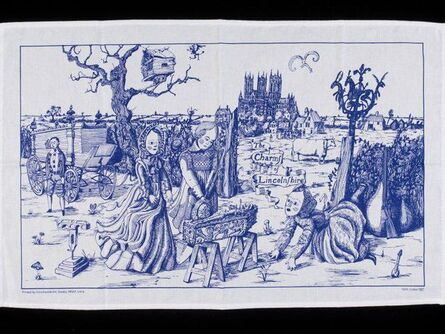 """Grayson Perry, '""""THE CHARMS OF LINCOLNSHIRE"""" (BLUE VERSION)', 2006"""