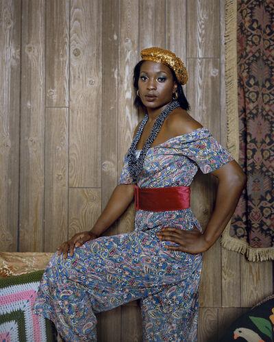Mickalene Thomas, 'Qusuquzah Standing Sideways  ', 2012