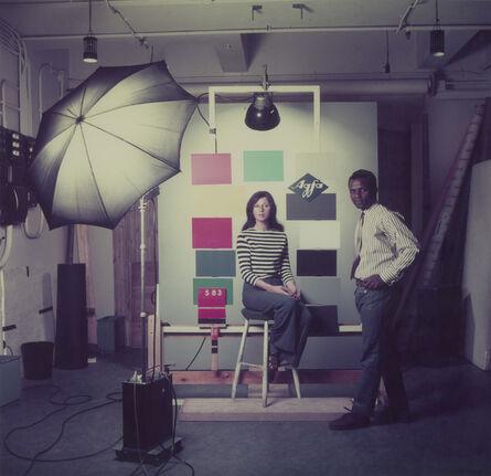 James Barnor, 'James Barnor at the studio Agfa-Gevaert studio Mortsel, Belgium, 1969', 2018