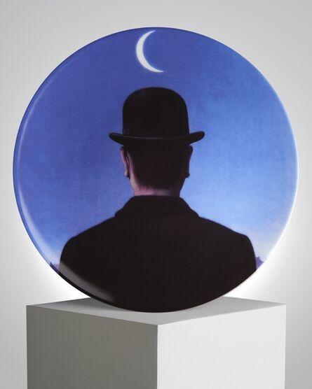 """René Magritte, '""""Le Maître d'Ecole"""" Porcelain Plate', ca. 2011"""