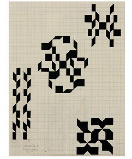 Willys de Castro, 'Estudos para pinturas', 1957-1958