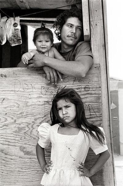 Laura Wilson, 'Child with Father and Sister, Colonia, Nuevo Laredo Mexico, April 19, 1993'