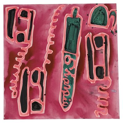 Katherine Bernhardt, 'Telephones and a Sharpie'