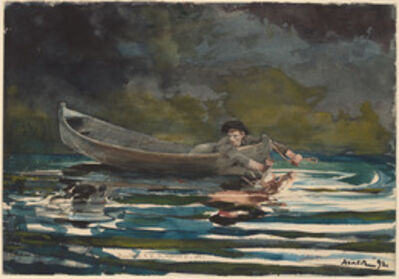 """Winslow Homer, 'Sketch for """"Hound and Hunter""""', 1892"""