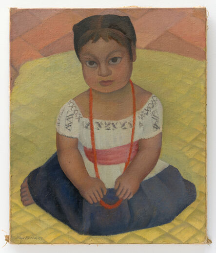 Diego Rivera, 'Kneeling Child on Yellow Background (Mexican Girl-Child)', 1927