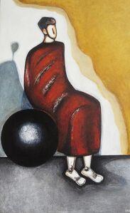Karo Alexanian, 'Le penseur sur la sphère', 2016