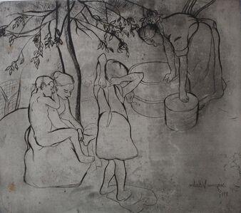 Suzanne Valadon, 'Children Washing in the Garden', 20the Century