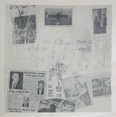 Robert Rauschenberg, 'Features from Currents, #72', 1970