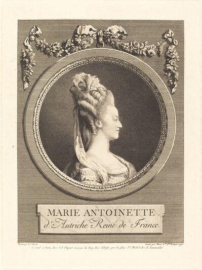 Marie Louise Adelaide Boizot after Louis-Simon Boizot, 'Marie-Antoinette', 1775
