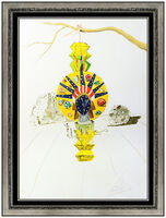 Salvador Dalí, 'Salvador Dali American Clock Color Lithograph Hand Signed Surreal Framed Artwork', 1976