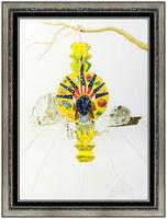 Salvador Dalí, 'Salvador Dali American Clock Color Lithograph Hand Signed Surreal Framed Artwork', 1976