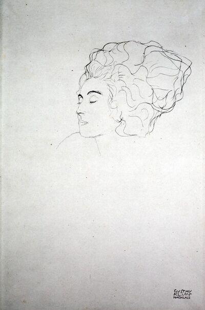 Gustav Klimt, 'Woman's Head [Fünfundzwanzig Handzeichnungen]', 1919