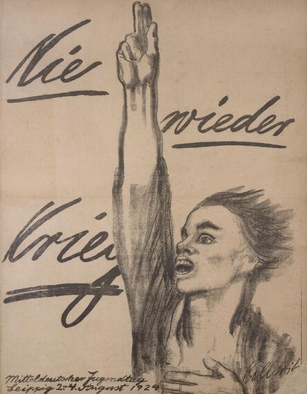 Käthe Kollwitz, 'Never Again War!', 1924