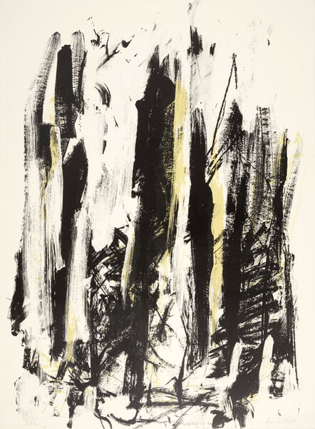 Joan Mitchell, 'Composition in Black and Yellow, from Trees', 1991