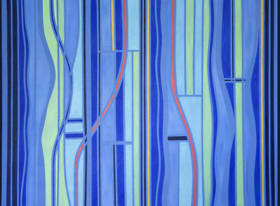 Jennifer Woolcock- Schwartz, 'Blue + Three I', 2020