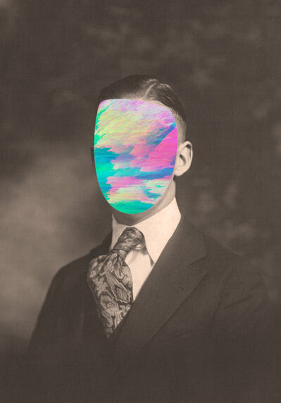 Andrea Wolf, 'Faces, Traces (man 5)', 2018