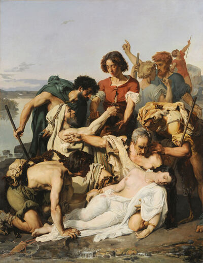 Paul Jaques Aimé Baudry, 'Zenobia Discovered by Shepherds on the Banks of the Araxes ', 1850