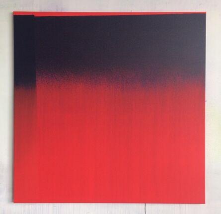 Guillaume Colussi, 'Carré rouge peint avec du bleu et léger décroché', 2017