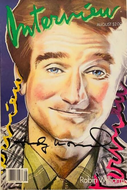 Andy Warhol, 'Interview Magazine signed by Andy Warhol (Robin Williams)', 1986
