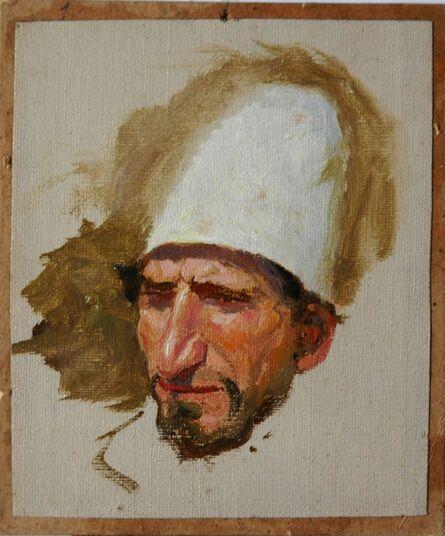 Vassily Dmitrievich Polenov, 'Head of Jew in Tall White Hat', 1884