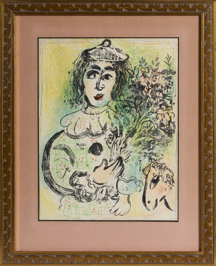 Marc Chagall, 'The Clown with Flowers', 1963