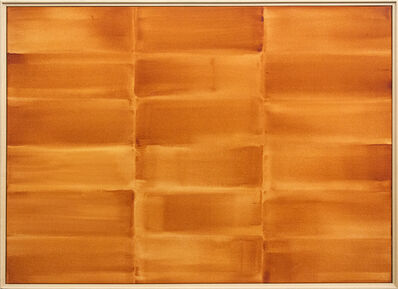 Milly Ristvedt, 'Tiger Lily/Gold - orange grid, abstract geometric composition, acrylic on canvas', 1998