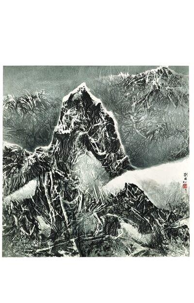 Liu Kuo-sung 刘国松, 'Tibetan Suite Series No. 169 – Standing amidst the Snow', 2011