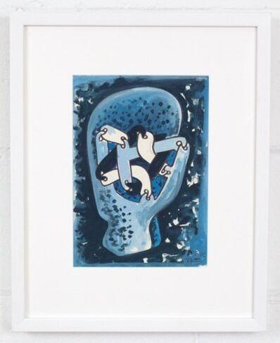 Sorel Etrog, 'Link Head Study - Blue', 1967