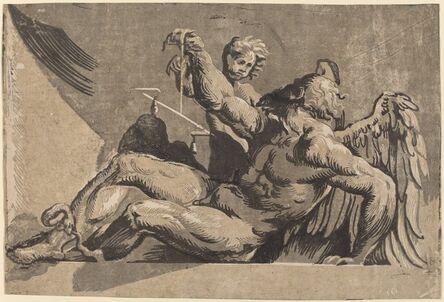 Guiseppe Nicolo Vicentino after Giovanni Antonio Pordenone, 'Saturn', 1525/1530