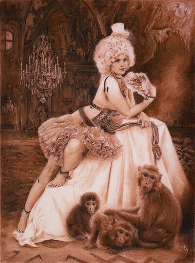 Alexandra Manukyan, 'Evolutia with Red Monkeys', ca. 2018