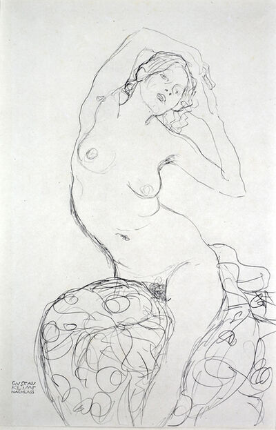 Gustav Klimt, 'Seated Nude [Fünfundzwanzig Handzeichnungen]', 1919