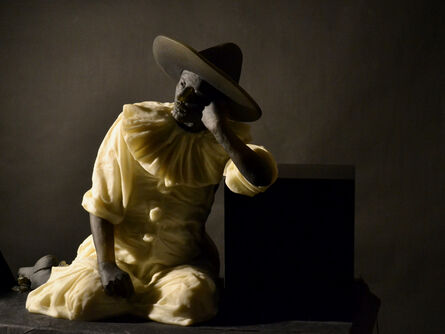 Nicolas Africano, 'Garbo Figure (leaning on a cube)', 2019