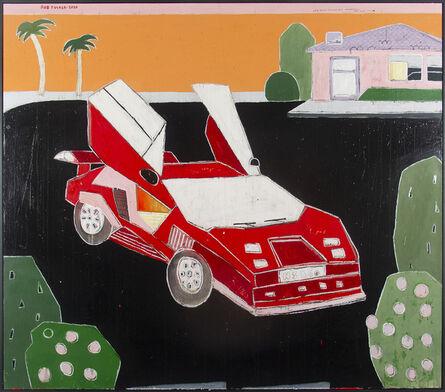 Rob Tucker, 'A Hockney Hollywood Hills Lamborghini. Dark Night Style', 2020