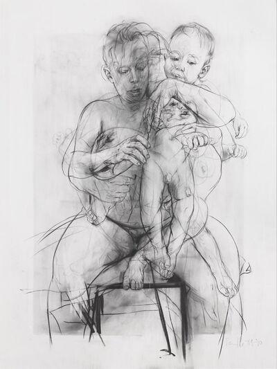 Jenny Saville, 'Reproduction drawing III (after the Leonardo cartoon)', 2009-2010