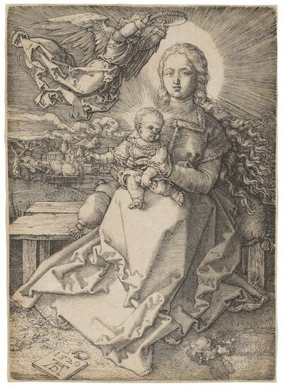 Albrecht Dürer, 'The Virgin and Child crowned by one Angel (B. 37; M., Holl. 41; S.M.S. 92)', 1520