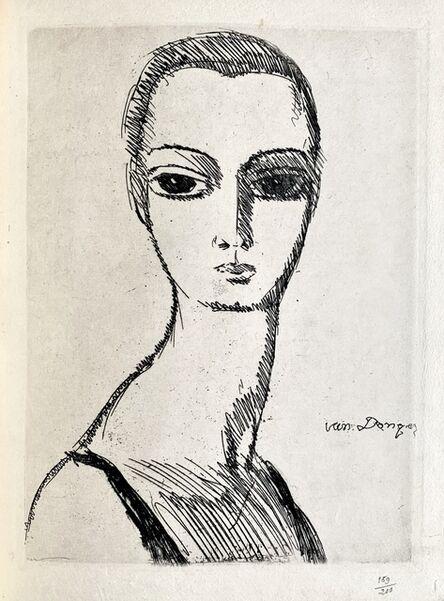 Kees van Dongen, 'Girl with swans neck', 1925