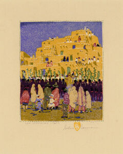 Gustave Baumann, 'San Geronimo - Taos', 1924