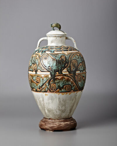 Séraphin Soudbinnie, 'Monumental Waves Vase', ca. 1930