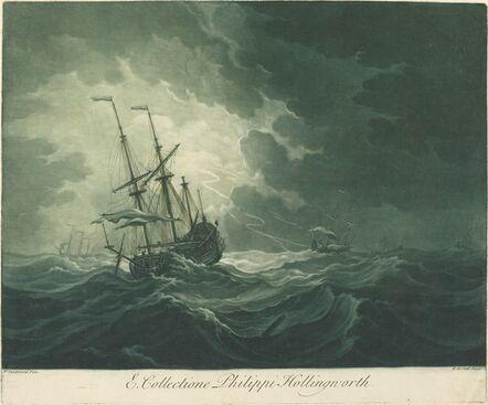 Elisha Kirkall after Willem van de Velde the Elder, 'Shipping Scene from the Collection of Philip Hollingworth', 1720s