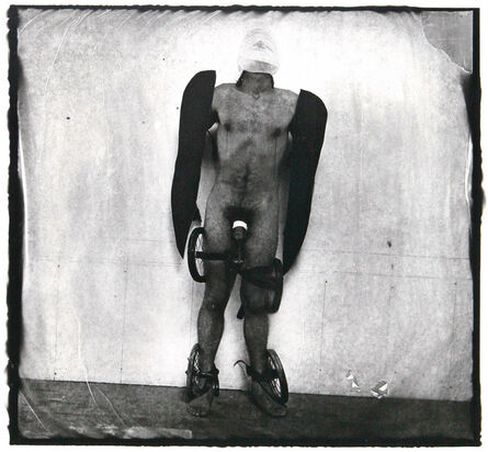 Joel-Peter Witkin, 'Man with Wings and Wheels'