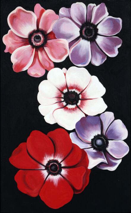 Lowell Nesbitt, 'Five Anemones', 1988