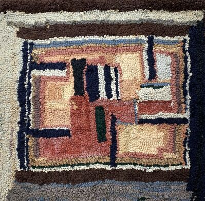 Agnes Weinrich, 'Cubist Hooked Wall Hanging', ca. 1920