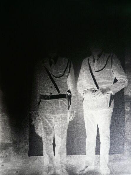 Milagros de la Torre, 'Under the black sun (Policemen) ', 1991-1993 (Print | Copia 2015)