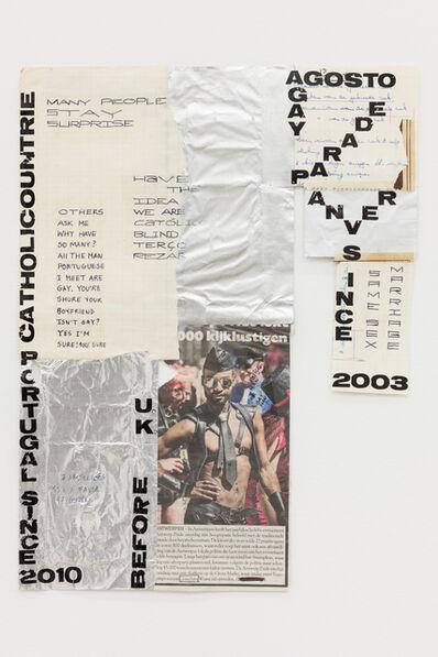 "Carla Filipe, '""Comer papel mastigado - o desejo de compreender o velho continente para cuspir a sua história / Eating chewed paper - the desire to understand the old continent to spit its story"" Untitled 09', 2014"