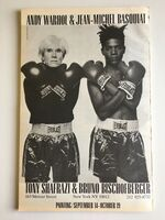 Andy Warhol, 'BASQUIAT WARHOL 1985 EXHIBITION POSTER (WHITE VERSION)'