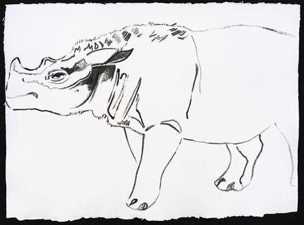Andy Warhol, 'Vanishing Animals - Sumatras Rhinoceros', 1986